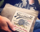 Farmall CASE IH - Tradition - Sew-on Patch - Canvas & Leather Clutch - Small  ... Selina Vaughan