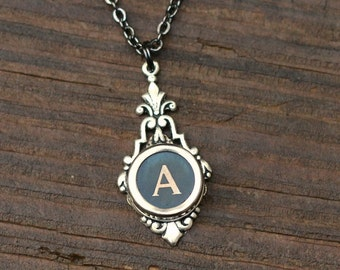 Initial A Typewriter Necklace, Vintage Wedding Ideas, Writer Gift