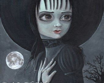 Halloween print poster - Beetlejuice Winona Ryder - Her name Was Lydia
