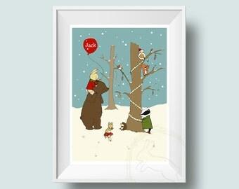 My Winter Wonderland - Personalised Nursery Wall Art Print