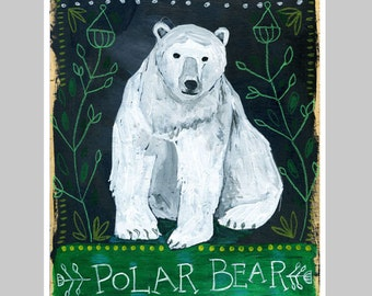 Animal Totem Print - Polar Bear