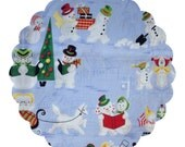 Made to Order County Cloth Creations Cotton Topped Cloth Menstrual Pads ~you pick your size & absorbency~Retro Snow Family
