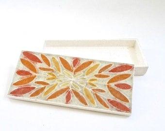 SUMMER SALE Modernist Ceramic Box Jewelry Box
