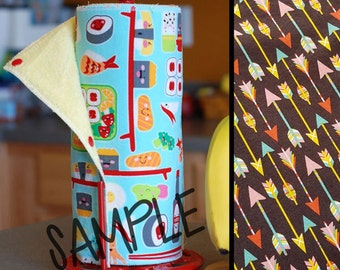 Unpaper Towel | Reusable Paper Towel - Arrows Tree Saver Towel | Kitchen Towel | Snapping Cloth Paperless Towel