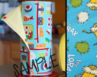 Unpaper Towel | Reusable Paper Towel - I Speak for the Trees Tree Saver Towel | Kitchen Towel | Snapping Cloth Paperless Towel