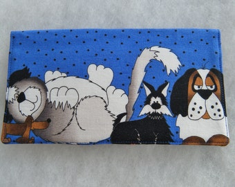 Checkbook Cover - Pound Hounds2 in blue