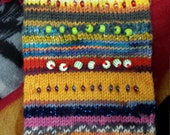 HORIZONTAL Beaded Stripey Cell Sock
