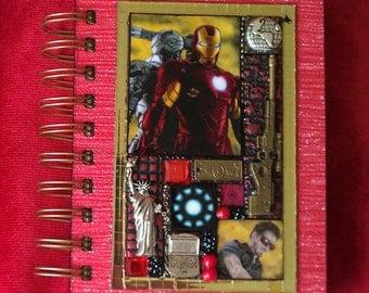 Iron Man Avengers A6 Journal - Mixed Media Mosaic