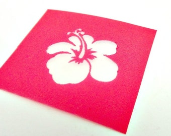Hibiscus Flower Design Silkscreen for Polymer clay and Crafts