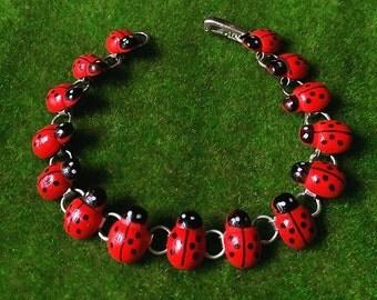 Lovely!........Ladybirds Bracelet