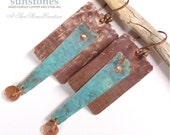 Rustic Copper Earrings  E877