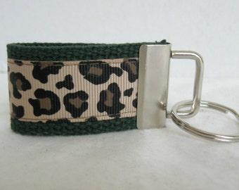 Mini Key Fob Leopard - HUNTER Animal Print Key Chain - Cheetah Zipper Pull - Small Cheetah Key Ring
