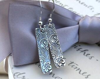 Flowers and Vines Artistan Silver earrings