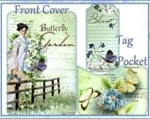 Butterfly Secrets Pockets and Tags Art/Junk Journal Digital Printable INSTANT DOWNLOAD