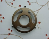 "Vintage Hubbell Brass 3-1/2"" Fitter Ring Glass Lamp Shade Holder for Replacement Restoration"