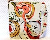 CLEARANCE SALE Ladies Shoulder Hobo Bag Purse Handmade Messenger Handbag in Modern Coral Pink Roses Fabric Handmade Sling Purse Gift for Her