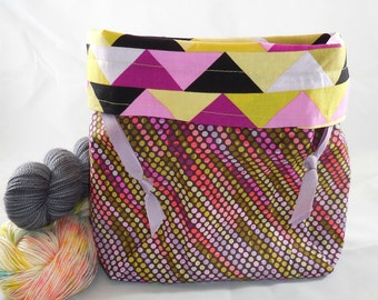 Geometric Variegation project bag by AnniePurl