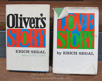 Love Story by Erich Segal Signed Copy | Oliver's Story by Erich Segal | Rare Vintage Books | 1970's Signed Book | Signed Love Story Book