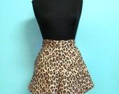 High Waist Pink Floral Leopard Print Culotte Skort Shorts