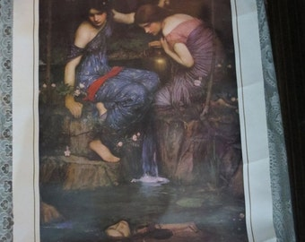 "ON SALE John Waterhouse Nymphs Finding the Head of Orpheus Art Print 24x36"" Heavy Stock Paper"