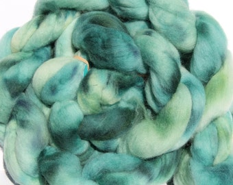 Kettle dyed Corriedale top. Roving. Spin. Felt. 1lb #27
