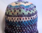 Handspun toddler hat, Purple to Air. A soft wool and glitter hat to keep your precious one warm. OOAK