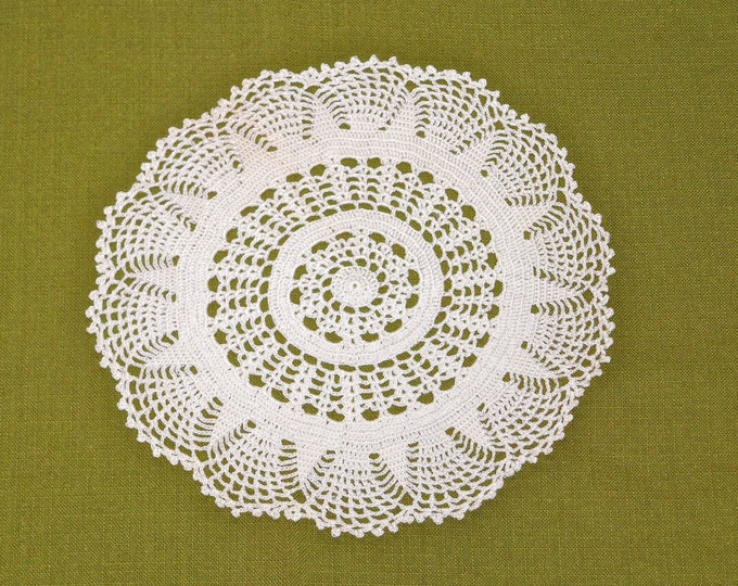 Vintage Large Crocheted Lace Doily 8.5 inch
