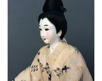 1960s Japanese Peasant Woman Figure - Hand Made Japanese Doll