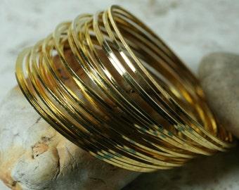 Stacking Bangle, Stackable Bangle, Gold Plated Bangle, Bangle Set, 2 pcs  (item ID FA00022GP))