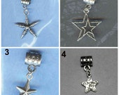 Selection of Star Lrg Hole Beads Fits All European Add a Bead Charm Bracelet Jewelry