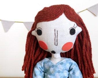 Rag Doll, Handmade Doll, Girl Doll, Custom Doll, Personalized Doll, Fabric Doll, Cloth Doll, Girl Gift