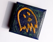 Feeping Creatures monster art - Glow-in-the-Dark Orange Ghost acrylic mini painting