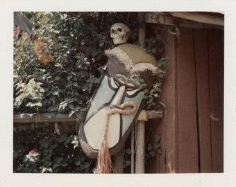 vintage photo 1968 Abstract Color Polaroid Tiki Skull Disneyland