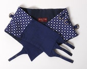 SALE Blue fabric belt, Blue wrap belt in vintage cotton, Womens clothing, Womens belts, Something blue - sz UK 8