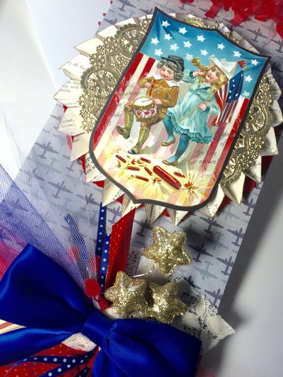Items Similar To 4th Of July Decor Vintage Pennant Kit