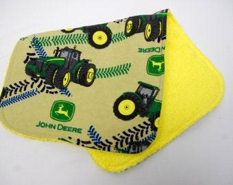 Baby Boy Burp Cloth, Baby Shower Gift, Welcome Baby Gift: John Deere Tractors