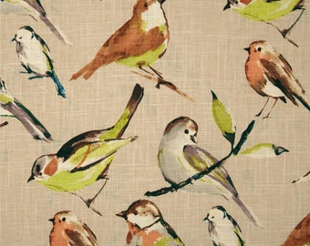 Birdwatcher linen pillow cover bird pillow cover bird cushion cover