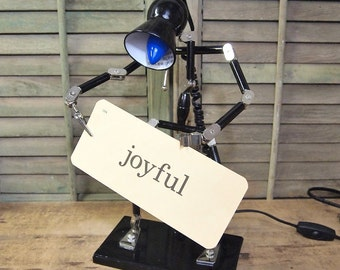 Free Shipping Lamp to hold your project, extra hands Robot Pose able adjustable articulating Project lamp studio or workshop or mancave