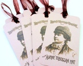 Knitting Gift Tags - Antique Toboggan Hat - Set of 8 Fiber Care Tags from kNotes for kNitters
