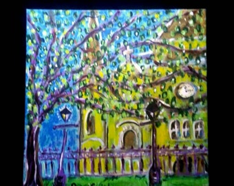 St Louis Cathedral Shining original PeaceSwirl painting