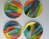 Ring Dish or Plate handmade multi colors