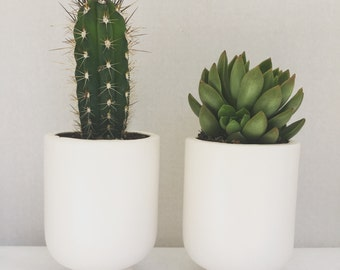 Matte White Planter Pot