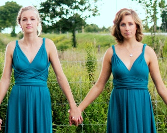 Infinity Multiway Dress CUSTOM MADE USA TaLL PLuS SiZE PETiTE convertible bridesmaid dusty blue wine gold teal rose rosegold pink mismatched