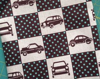 KOKKA fabrics - Echino - boxing cars - OOP - medium weight -