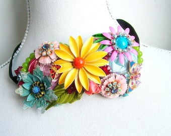 Flowers for your hair - OOAK hairband - Ready to ship x