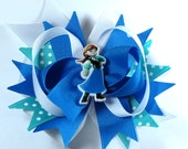 Boutique Frozen Inspired  Hair Bow Clip