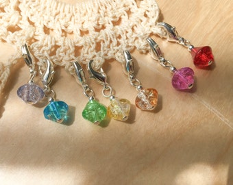 7 Stitch Markers - Your Choice Crochet or Knit - Little Charmers