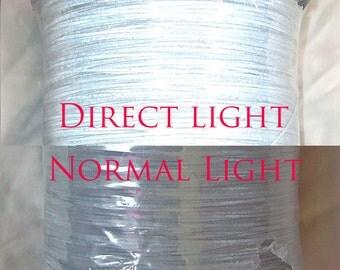 Light reflective  knitting/weaving yarn - thick