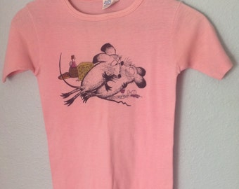 Vintage Pink Tee Shirt Mouse