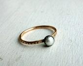 Single Pearl Stacking Ring